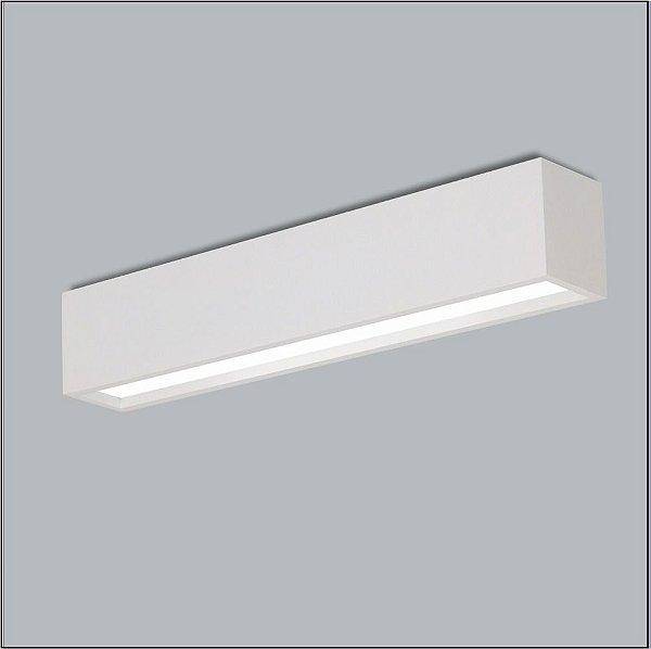 Plafon Usina Design Retangular Metal Fosco  acrílico leitoso 12x128 Tropical T8 4005/125f Sala Estar Quartos