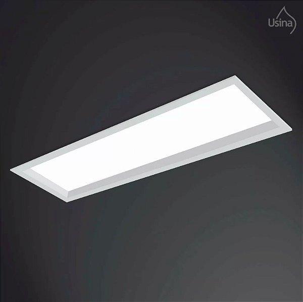 Plafon Usina Design Retangular Embutido  acrílico leitoso Bivolt 110v 220v15x65 Suprema T8 3015/65f Quartos Salas