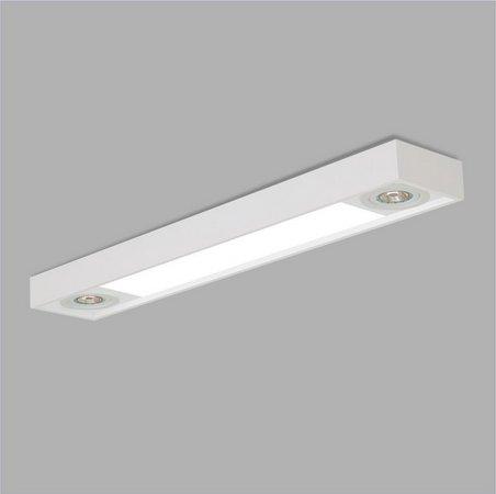 PLAFON Usina Design RETANGULAR TROPICAL 4015/90F Sala Estar CozinhasPAR 4 T8 60CM 02 PAR20 150X900X120
