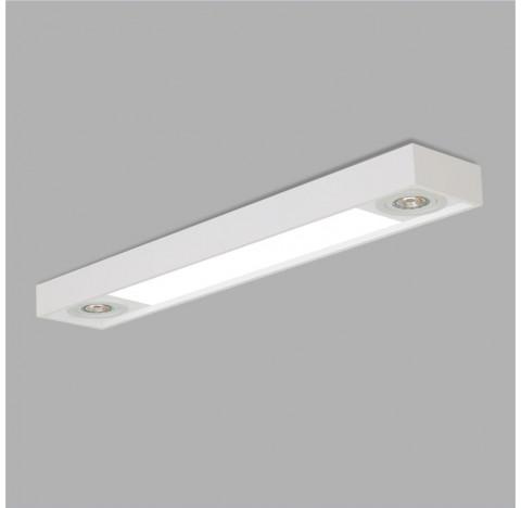 PLAFON Usina Design Retangular TROPICAL SLIM 4709/130F Sala Estar Cozinhas Quartos 2 T8 LED 120CM 95X1280X85