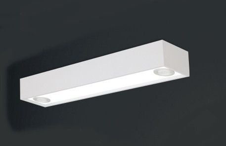 Plafon Usina Design Sobrepor Metal Retangular Usual Grande 65x15 Tropical T8 4015/65f Sala Estar Quartos
