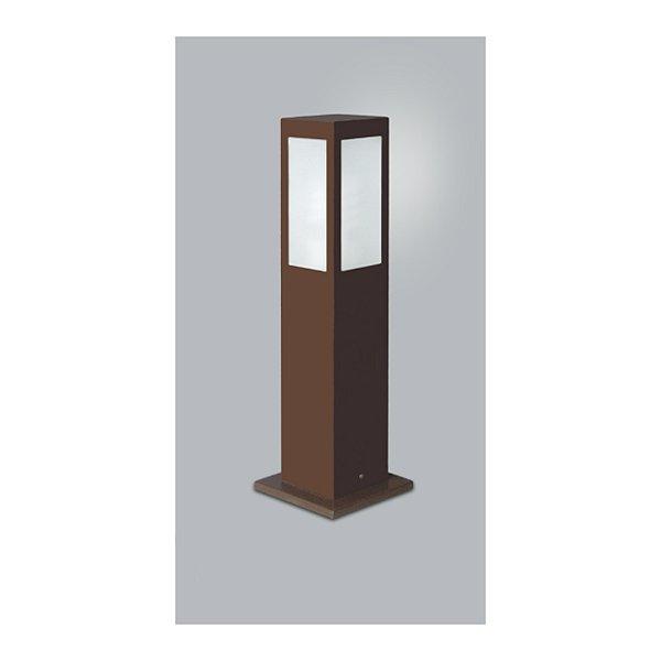 POSTE Usina Design QUADRADO JARDIM ALBERINO 5510/75 Amb. Externo 1 E27 115x115x750