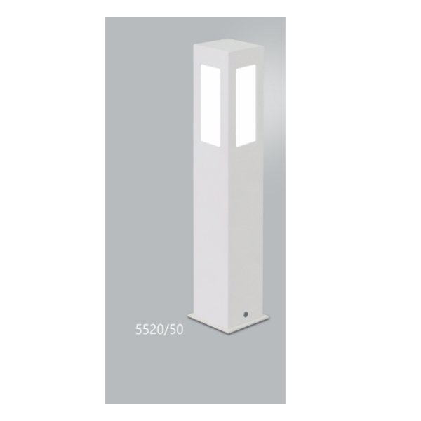 POSTE Usina Design QUADRADO JARDIM ALBERINO 5520/50 Amb. Externo 1 E27 90x90x500