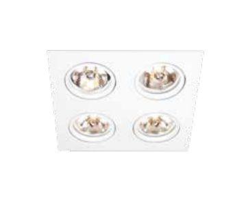 Spot Newline Iluminação Lisse II 4 Foco Embutir Quadrado Metal 7x18cm 4x GU10/GZ10 PAR16 50W IN55524BT Tetos e Gesso