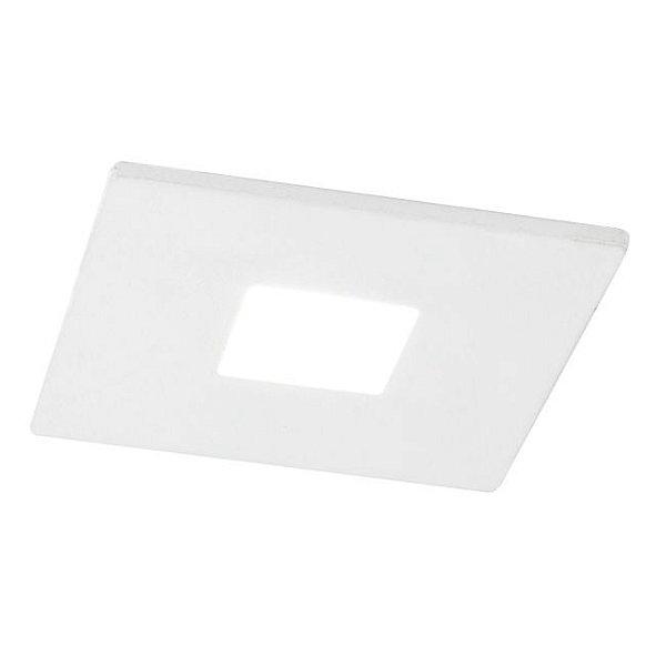 Spot Newline Iluminação Lisse Pin Hole Embutir Quadrado Metal 6,3x7cm 1x GU10/GZ10 LED IN50931BT Tetos e Gesso