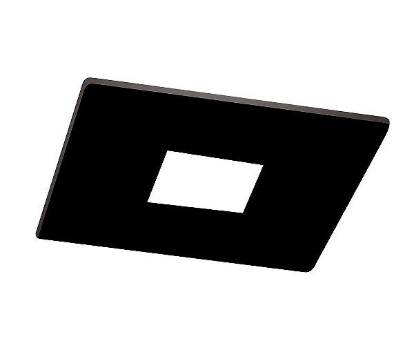 Spot Newline Iluminação Lisse Pin Hole Embutir Quadrado Metal 6,3x7cm 1x GU10/GZ10 LED IN50931PT Tetos e Gesso