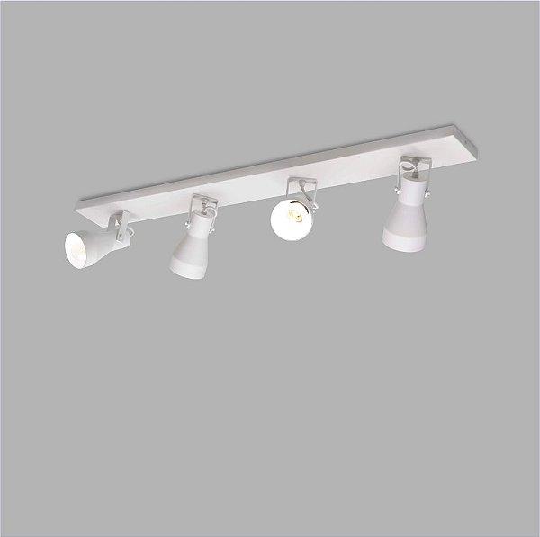 TREND SPOT Usina Design Trilho FOUR CANOPLA Retangular 100x650x20mm 16346/4E 4 E27 220x650x130