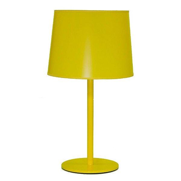 Abajur Golden Art Metal Cores Personalizadas Amarelo Cúpula Plásticos 110v 220v Bivolt 63cm Altura (H) Castt E-27 M895 Mesas Quartos