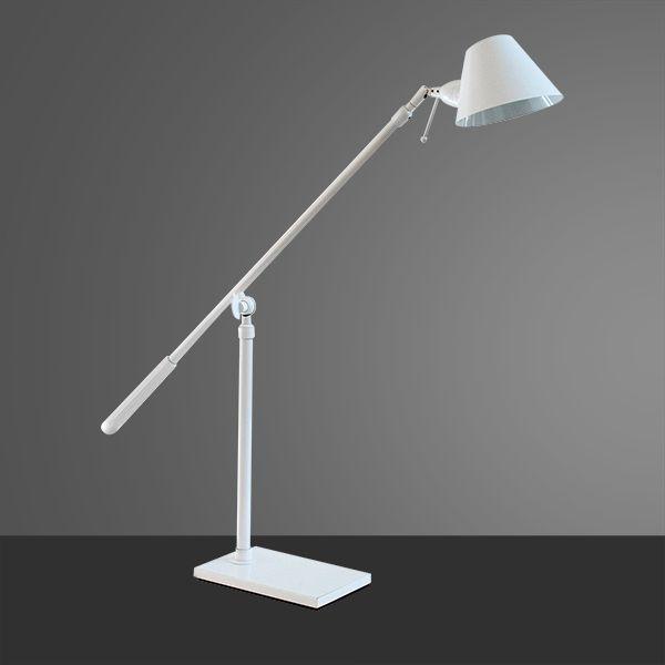 Abajur Golden Art Luminária Chão Com Articulação Branca Metal Cúpula 110v 220v Bivolt 1,6m Altura (H) Zull G9 M786 Sala Estar Saguão