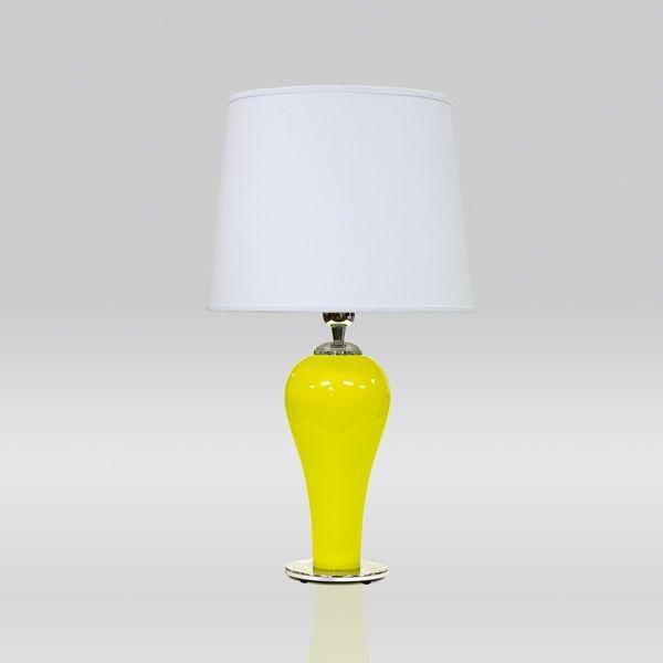 Abajur Golden Art Vidro Cores Personalizadas Amarelo Cúpula Cone Tecido 110v 220v Bivolt 58cm Altura (H) Drop E-27 M727 Quartos Salas