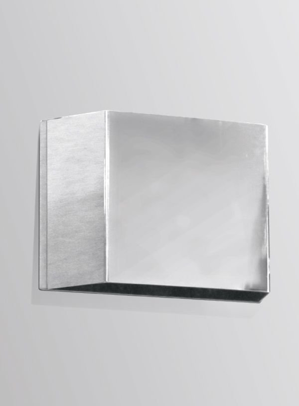 Arandela Golden Art Balizador Amb. Interno Retangular Metal Cromo 12x08 G9 P309 Entradas Salas