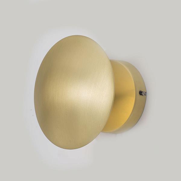 Arandela Golden Art Amb. Interno Oval Dourada Metal Ajustável Luz Indireta Ø15 G9 P917 Escritórios Home Office Salas.