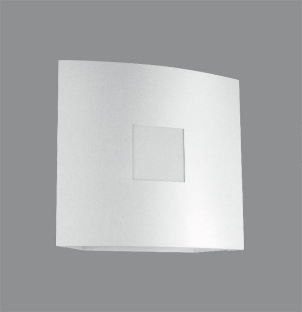 Arandela Golden Art Amb. Interno Quadrada Curva Metal Branca 12x12 G9 P382 Quartos Salas
