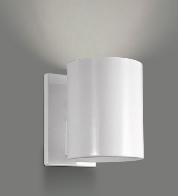 Arandela Golden Art Amb. Interno Tubo Metal Branco Contemporâneo Ø10 E-27 P742 Quartos Salas