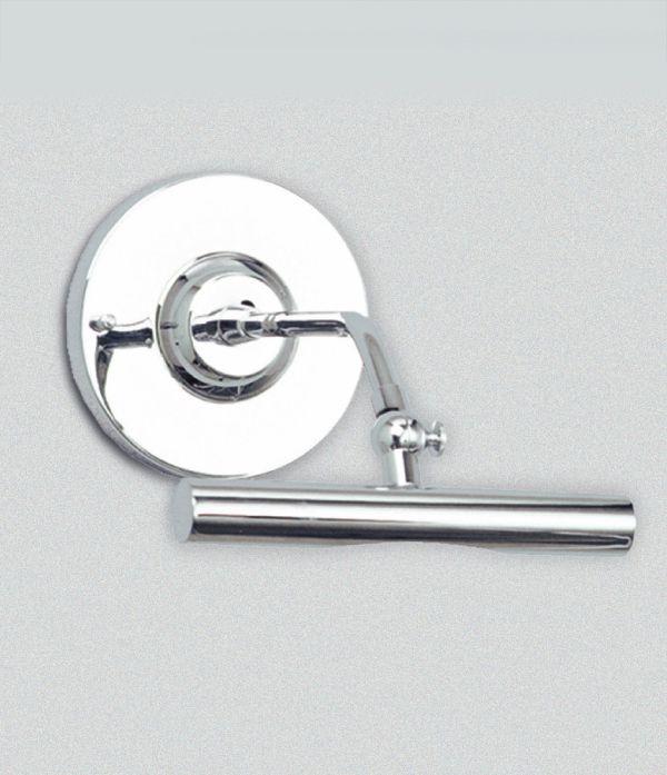 Arandela Golden Art para Espelho Quadro Tubo Calha Cromo Metal Metal 16cm Halógena P371 Banheiros Salas