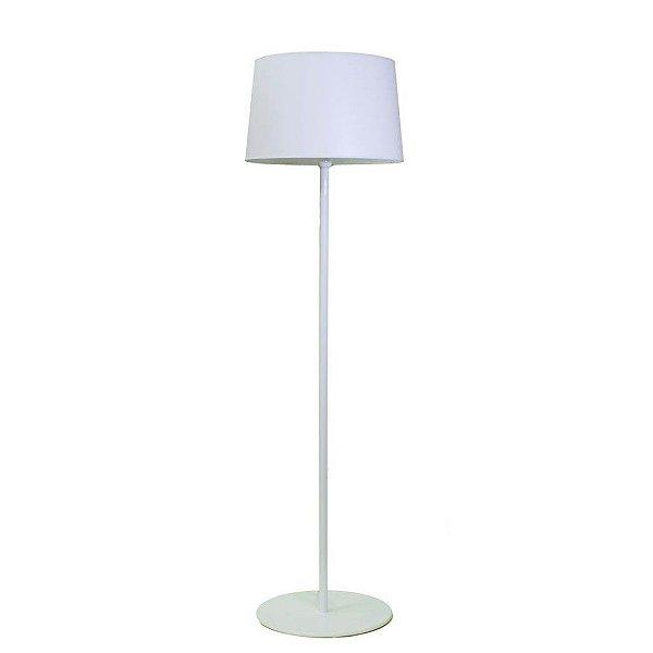 Coluna Luminária Chão Golden Art Branca Metal Cúpula ABS 110v 220v Bivolt 1,60m Altura (H) Castt E-27 C895BR Sala Estar Saguão
