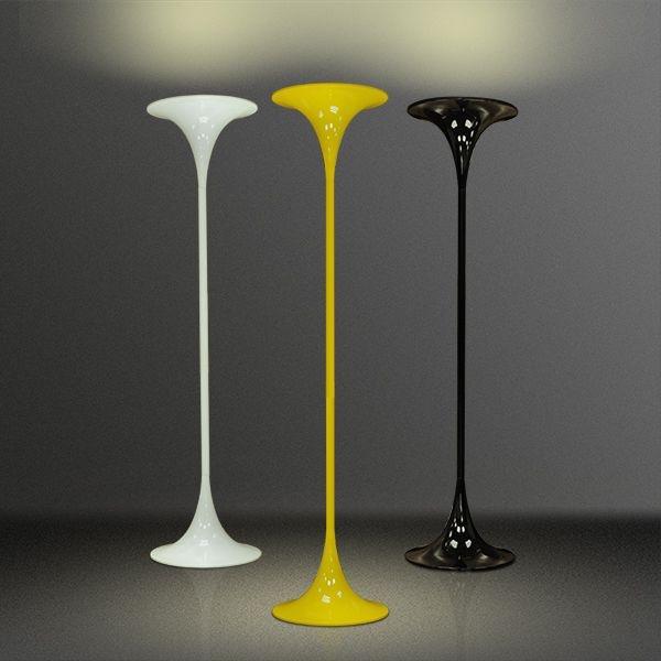Coluna Luminária Chão Golden Art Colorida Metal Luz Indireta 110v 220v Bivolt 1,75m Altura (H) Mistt E-27 C900A Sala Estar Saguão