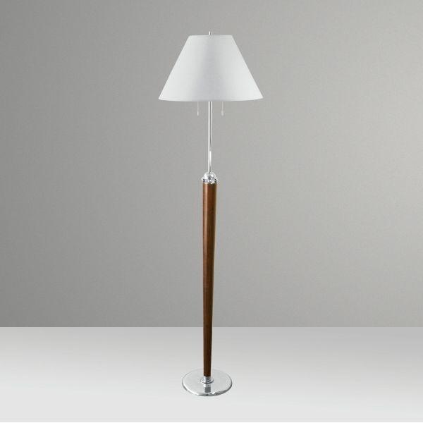 Coluna Luminária Chão Golden Art Rústica Cone Madeira Maciça Cúpula Tecido 110v 220v Bivolt 1,7m Altura (H) E-27 C219 Sala Estar Saguão