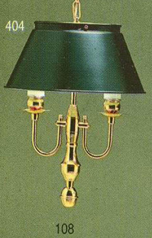 Lustre Golden Art Inglês Clássico 2 Braços Vela Classica Pendente Golden Art Luminária Colonial Retrô Sala Balcão Comercial T006