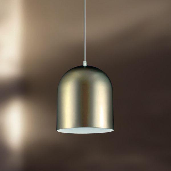 Pendente Golden Art Metal Escovado Cabo Regulável 18x20 E-27 T201-20 Cozinhas Quartos