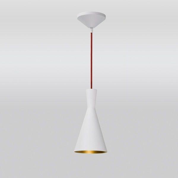 Pendente Golden Art Cone Suspenso Cone Metal Branco 27x14cm 1x Lamp. E27 110v 220v Bivolt T9076-A Cozinhas Balcões