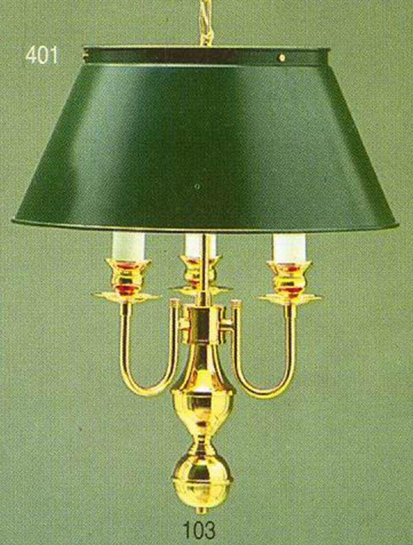 Pendente Golden Art Inglês Vintage Curva Dourado Cúpula Colorida 3 Lamp. 40x53 E-27 T011 Sala Estar Saguão