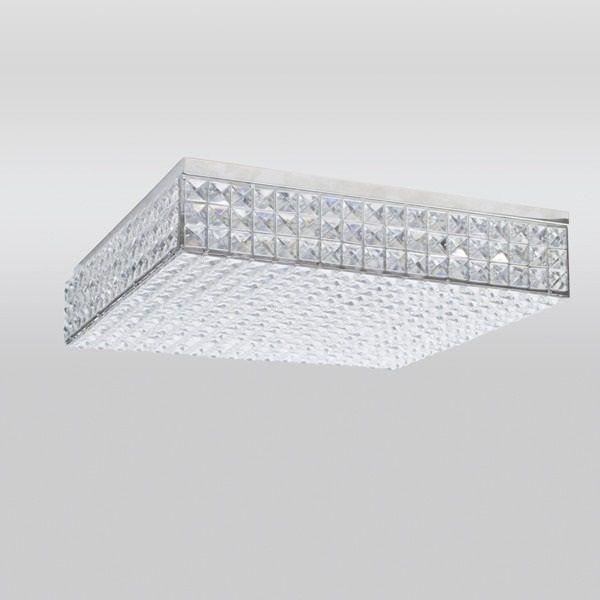 Plafon Golden Art Cristal Quadrado Sobrepor Contemporâneo 10x45cm 1x G9 Halopin 110v 220v Bivolt T957-45 Sala Estar Hall