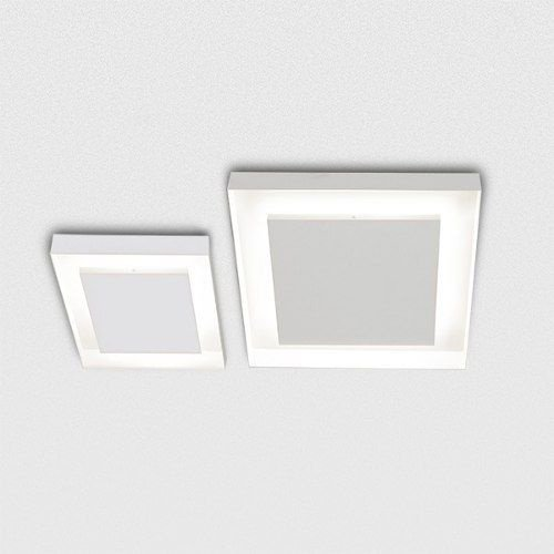 Plafon Golden Art Quadrado Metal Fosco Branco 30x30cm Sanca G9 Halopin T117-30 Entradas Varanda Gourmet