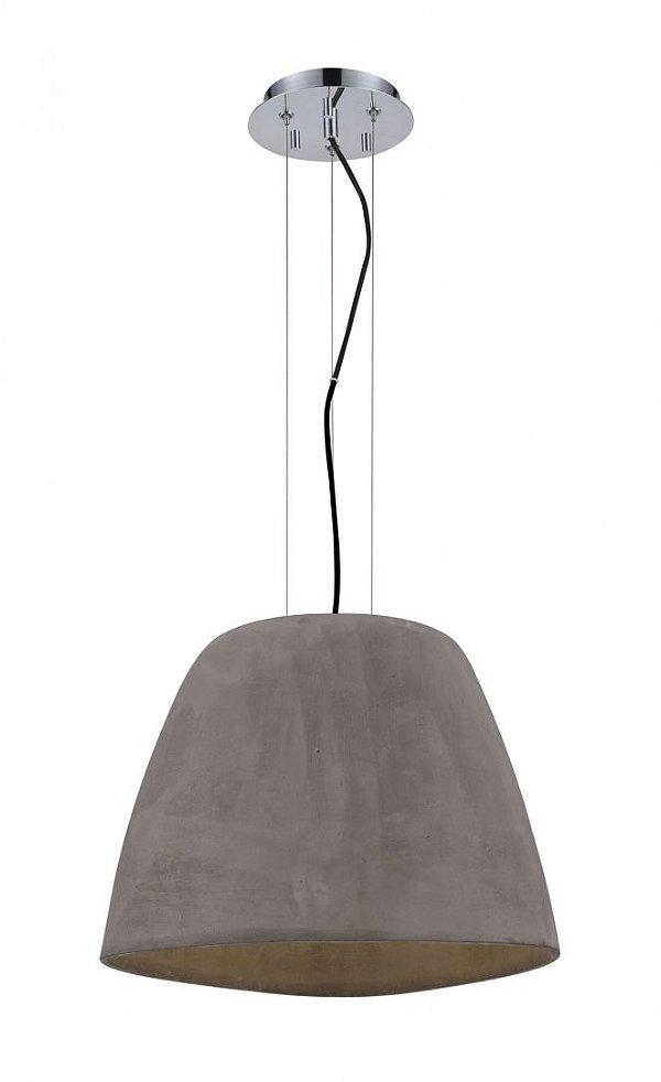 Pendente Mantra Co 30539 TRIANGLE  Concreto Rustico SPACE GREY   1 Lamp  E27 BIVOLT D-47cm H-33cm Salas e Cozinhas