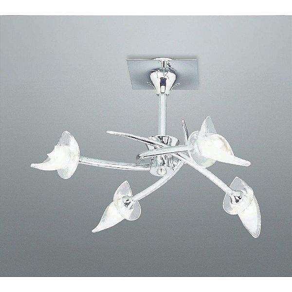 Plafon Mantra 0305 Co Flavia Floral 4 Lamp. G9 3 W Ø54x34 cm Salas e Quartos