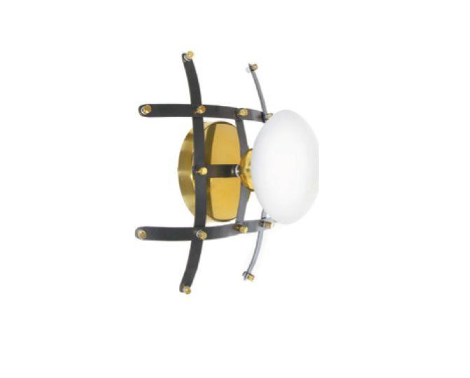 Arandela Old Artisan Iluminação AR5345  Esfera Bola De Vidro Articulado Sanfonada (1 - G9)  C-300XL-300XP-135 (aberto) C-220XL-300XP-135 (fechado)