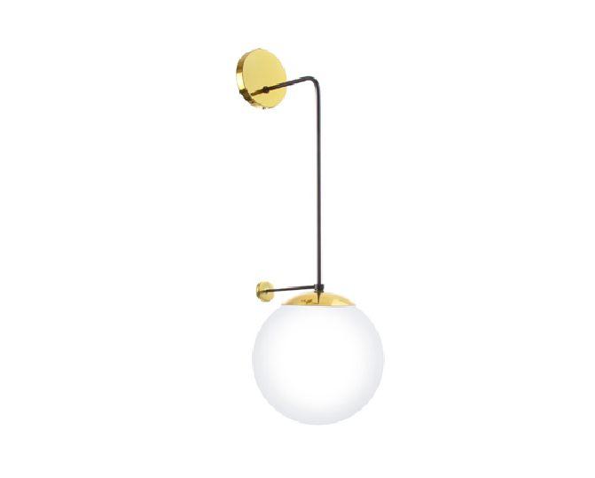 Arandela Old Artisan Iluminação AR5339  Esfera Bola De Vidro Moderna Dourada Cores (1 - E27) A-720XL-250XP-310
