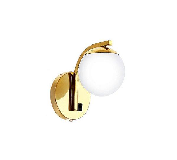 Arandela Old Artisan Iluminação AR5329  Esfera Bola De Vidro Moderna Interruptor Dourado Cores (1 - G9) A-190XL-120XP-180