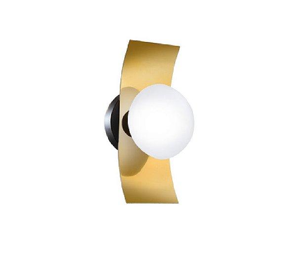 Arandela Old Artisan Iluminação AR5318  Retangular Esfera Bola De Vidro Moderna Dourada Cores (1 -G9) A-280XL-140XP-150