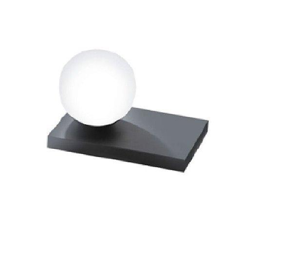Abajur Old Artisan Iluminação ABJ5308  Esfera Bola De Vidro Moderna Retagular Preto Cores (1 - G9) A-150XL-210XP-150