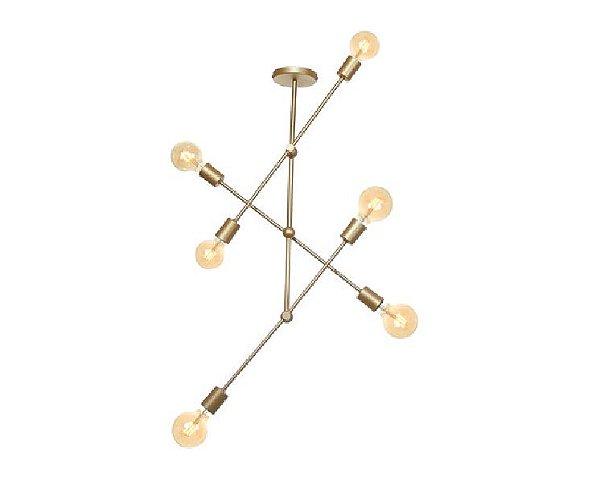 Pendente Old Artisan Iluminação PD5282 Moderno Vertical Filamento Dourado Cores (E27) C-600XL-150XA-700 até 1000