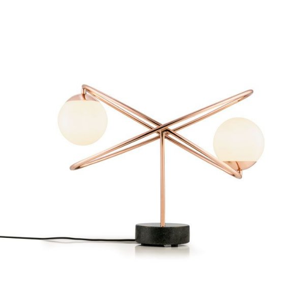 LUMINÁRIA DE MESA Klaxon Iluminação Free l Aro Redondo Esfera Bola Vidro Moderna 50,5 cm x 35,5 cm x 26 cm