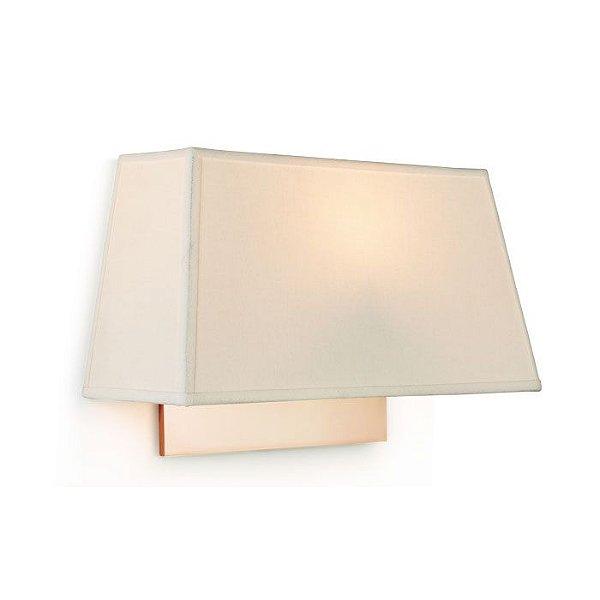 ARANDELA Klaxon Iluminação Little Piramide Cupula Tecido Creme 30 cm x 15 cm x 10 cm