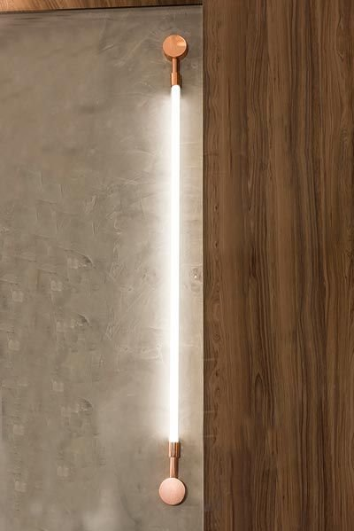 Arandela  LUMINÁRIA Klaxon Iluminação LUXEMBOURG G Tubular Led Moderna  8 cm x 154 cm x 4 cm