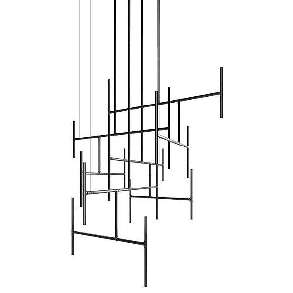 PENDENTE Klaxon Iluminação LADDER Geométrico Tubular Moderno (preço por módulo) 110 cm x até 4 metros x 70 cm