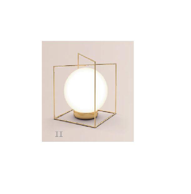 Abajur LUMINÁRIA DE MESA Klaxon Iluminação CÂMPANULA Il Aramado Esfera Bola de Vidro Moderna 13,5 cm x 17,5 cm x 12 cm