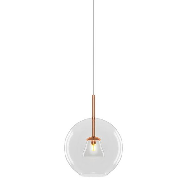 PENDENTE Imports Iluminação SOHO Vertical Esfera Bola de Vidro Moderna 30 cm x 40 cm x 30 cm