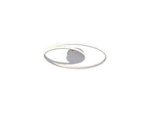 PLAFON QUALITY NEWLINE PL1342BR METAL Aros Redondo esfera moderno 54X30X5CM LED 44W BRANCO