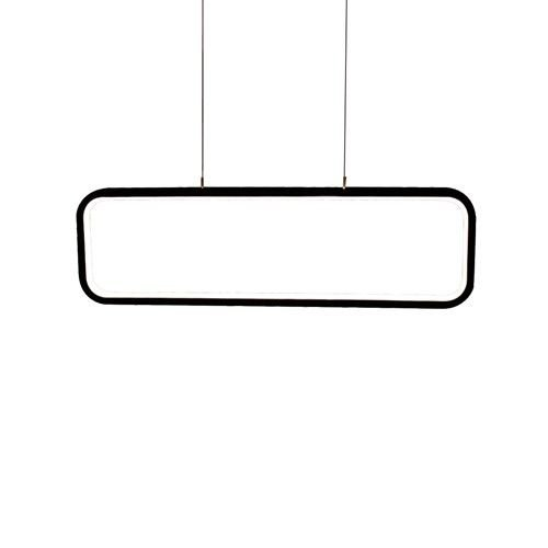 PENDENTE QUALITY NEWLINE QPD1319PT LED Retangular Moderno Minimalista  50 x A15 cm 26W 3000K PRETO