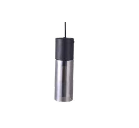 PENDENTE QUALITY NEWLINE QPD1348FM VIDRO METAL Tubular Moderdo Vertical PRETO FUME Ø9 x A30 cm 1e27