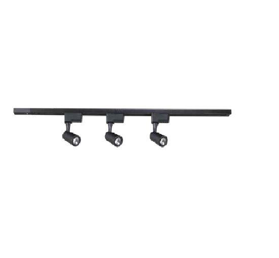 SPOT QUALITY NEWLINE QSP1373PT com TRILHO LED 3X7W PRETO 100X15 cm