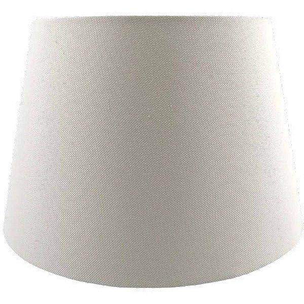 CUPULA para Abajur  Bella Ilumy AL002W LINEN 37,5cm x 32,5cm x 50cm OFF WHITE