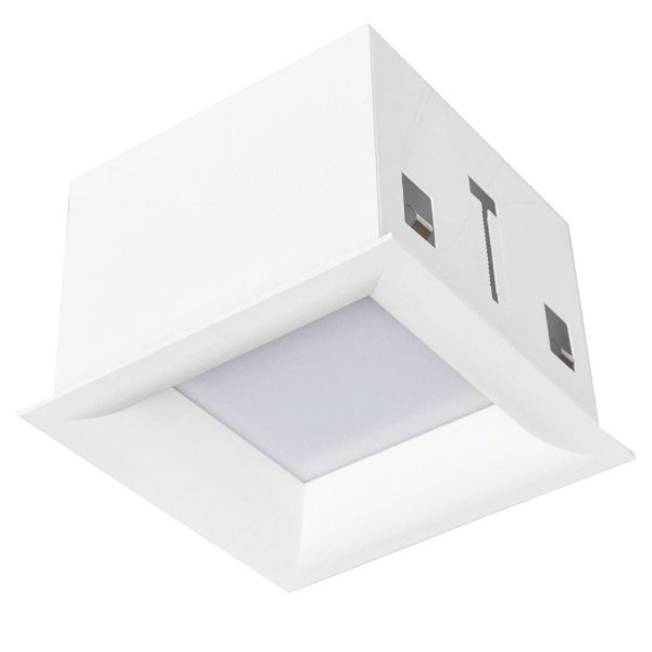 PLAFON Bella Ilumy DL010NW EMBUTIDO Quadrado LED  TEC CURV 12W Branco 17x17cm