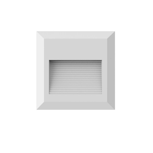 BALIZADOR Bella Ilumy DL131BR  SOBREPOR MATTE Quadrado Branco 2W LED A2,7xL12,4XC12,4