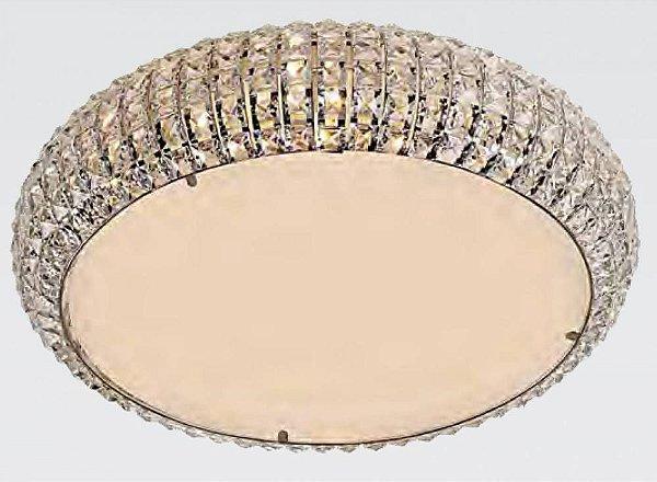 PLAFON Bella Ilumy HO2053C VIENNA Cristal Lapidado Redondo Cromado Transparente 53CM 9XG9